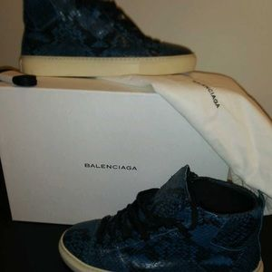 Blue Balenciaga shoes